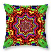 Psychedelic Construct Throw Pillow