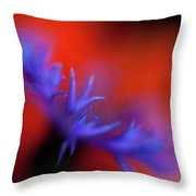 Psychedelic Cornflower Throw Pillow