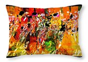Psychedelic Derby Throw Pillow