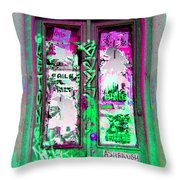 Psychedelic Door Throw Pillow