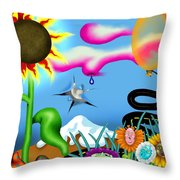 Psychedelic Dreamscape I Throw Pillow