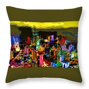 Psychedelic  Dubai Art Throw Pillow