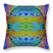 Psychedelic Egg Groovy Throw Pillow