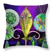 Psychedelic Garden 2 Throw Pillow