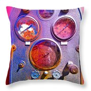 Psychedelic Gauges Throw Pillow