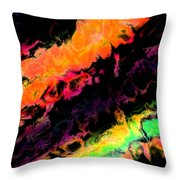 Psychedelic J Throw Pillow