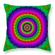 Psychedelic Journey Throw Pillow