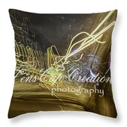 Psychedelic Lights On Slow Speed Throw Pillow