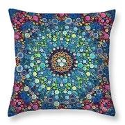 Psychedelic Mandala Throw Pillow