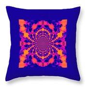 Psychedelic Mandelbrot Set  Kaleidoscope Throw Pillow