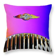 Psychedelic Morgan 4/4 Badge And Radiator Throw Pillow