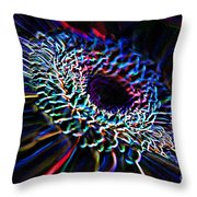 Psychedelic Neon Throw Pillow