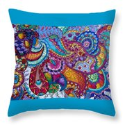 Psychedelic Paisley Throw Pillow