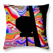 Psychedelic Sky Throw Pillow
