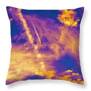 Psychedelic Skys Throw Pillow