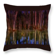 Psychedelic Swamp Trees Throw Pillow