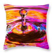 Psychedelic Water Drop Throw Pillow