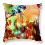Psychedelic Xperiment Throw Pillow