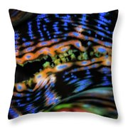 Psychedellic Clam Throw Pillow