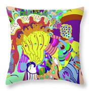 Psychedellic Pinch Throw Pillow