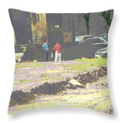 Psychodelic Wasteland Throw Pillow