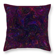 Psychotic Scribbles Throw Pillow