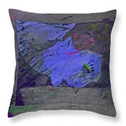 Psychowarhol Blue Throw Pillow