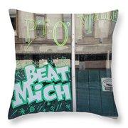 Pt O'maleys Beat Mich Throw Pillow