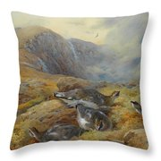 Ptarmigan Danger Aloft By Thorburn Throw Pillow