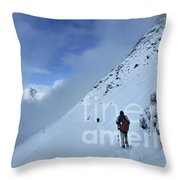 Ptarmigan Pass North - Glacier National Park Throw Pillow