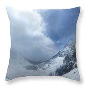Ptarmigan Pass South Approach - Glacier National Park Throw Pillow
