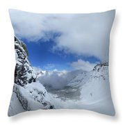 Ptarmigan Pass Tunnel North - Glacier National Park Throw Pillow