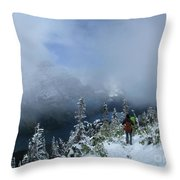 Ptarmigan Trail Overlooking Elizabeth Lake 2 - Glacier National Park Throw Pillow