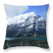 Ptarmigan Trail Overlooking Elizabeth Lake 5 - Glacier National Park Throw Pillow