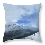 Ptarmigan Trail Overlooking Elizabeth Lake - Glacier National Park Throw Pillow
