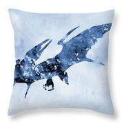 Pterodactyl-blue Throw Pillow