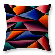 Pterodactyl Cubed Throw Pillow