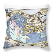 Ptolemaic World Map, 1493 Throw Pillow