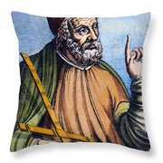 Ptolemy (2nd Century A.d.) Throw Pillow