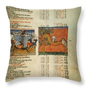 Ptolemy: Almagest, 1490 Throw Pillow