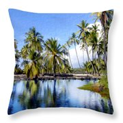 Pu Uhonua O Honaunau Pond Throw Pillow