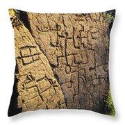 Puako Petroglyphs Throw Pillow