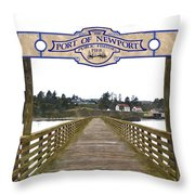 Public Fishing Pier Throw Pillow