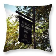 Public Garden 1837 Boston Throw Pillow