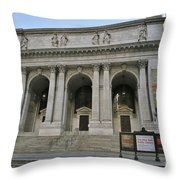Public Library New York City Throw Pillow