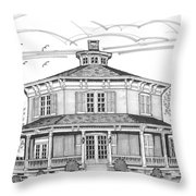 Public Library Red Hook Ny Throw Pillow by Richard Wambach