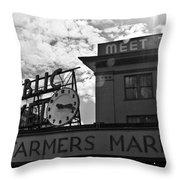 Public Market #2 Throw Pillow