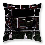 Public Market Sail Throw Pillow