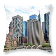 Public Park In The Heart Of Toronto Throw Pillow