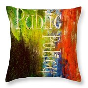 Public Policy Throw Pillow